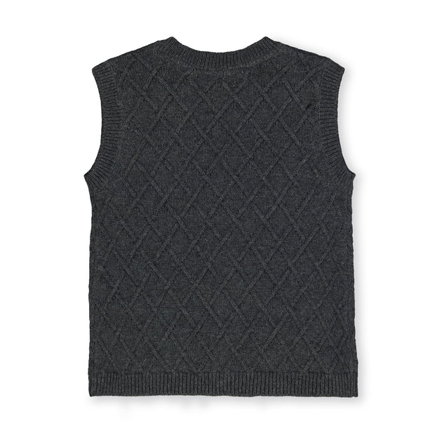 Button Front Sweater Vest - Hope & Henry Boy