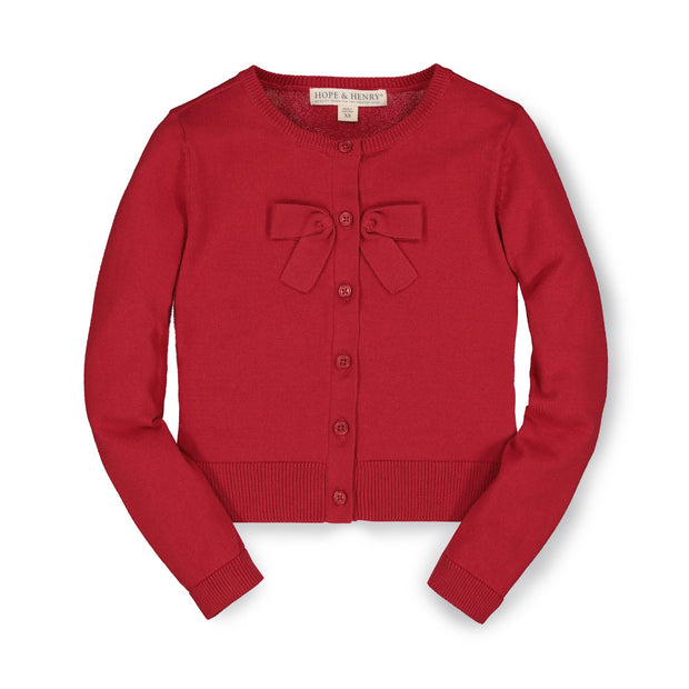 Bow Front Cardigan - Hope & Henry Girl