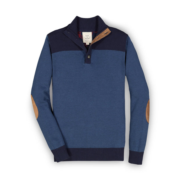 Contrast Sweater with Elbow Patches - Hope & Henry Men