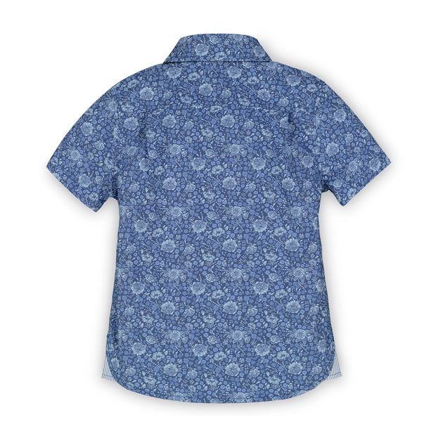 Poplin Short Sleeve Button Down Shirt