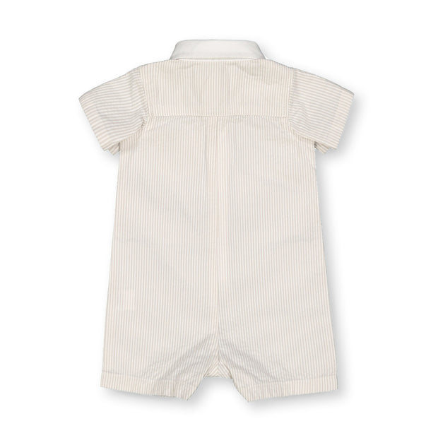 Seersucker Button Front Romper