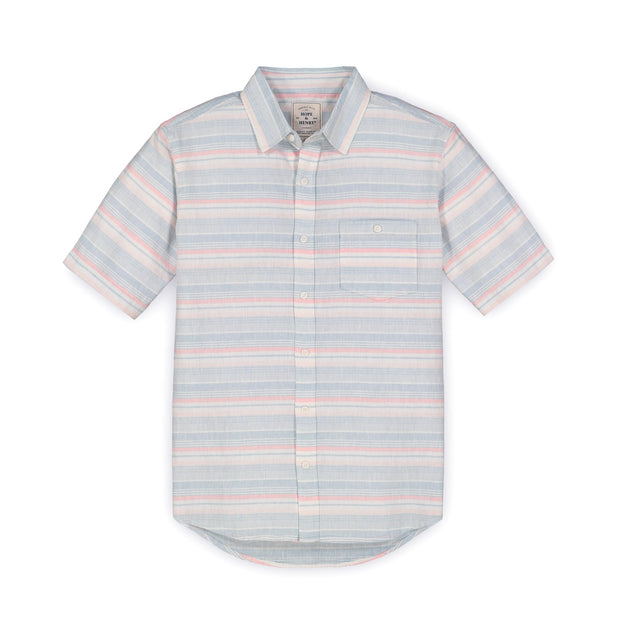 Linen Short Sleeve Button Down Shirt