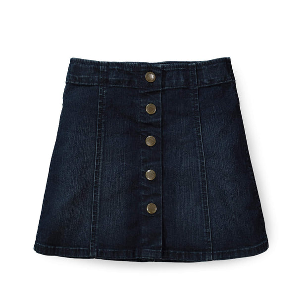 A-Line Snap Front Skirt - Hope & Henry Girl