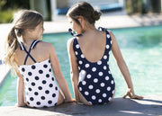 Bow Shoulder One-Piece Swimsuit - Hope & Henry Girl