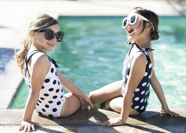 Bow Shoulder One-Piece Swimsuit - Hope & Henry