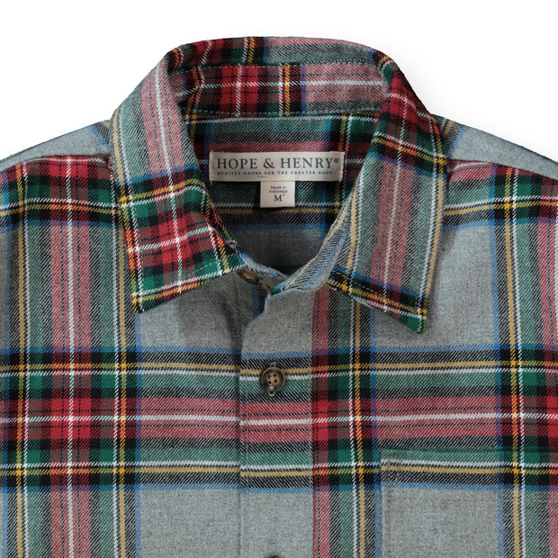 Brushed Cotton Button Down Shirt - Hope & Henry