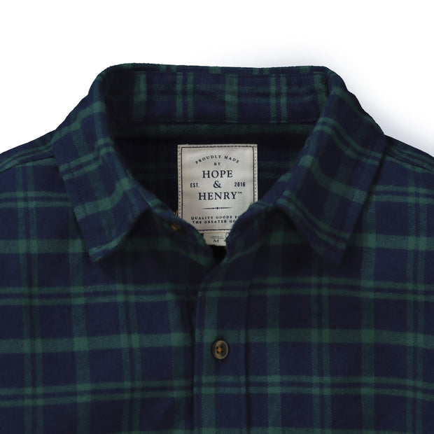 Brushed Flannel Button Down Shirt - Hope & Henry