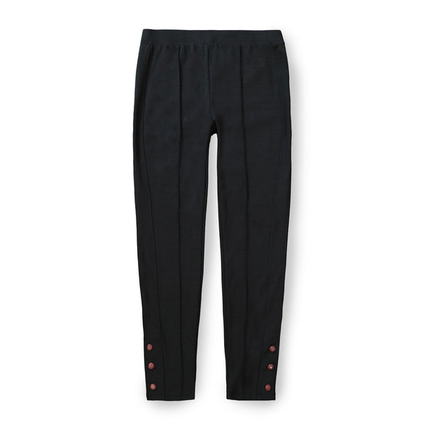 Button Cuff Ponte Pant - Hope & Henry Women