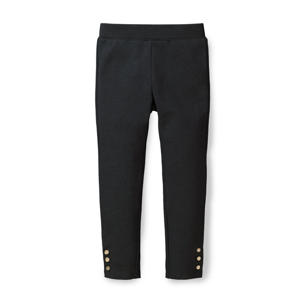 Button Cuff Ponte Pants - Hope & Henry Girl