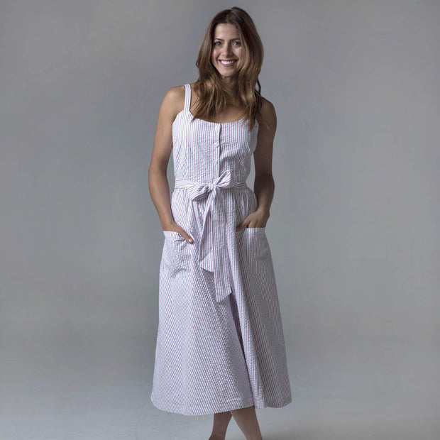 Button Front Midi Dress with Pockets-Dresses-Hope & Henry