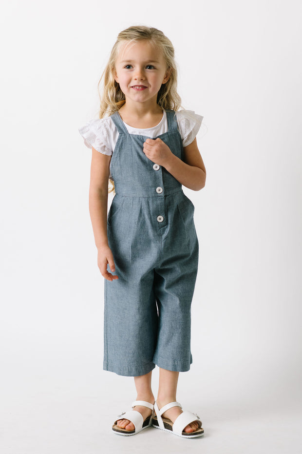 Button Front Overall - Hope & Henry Girl