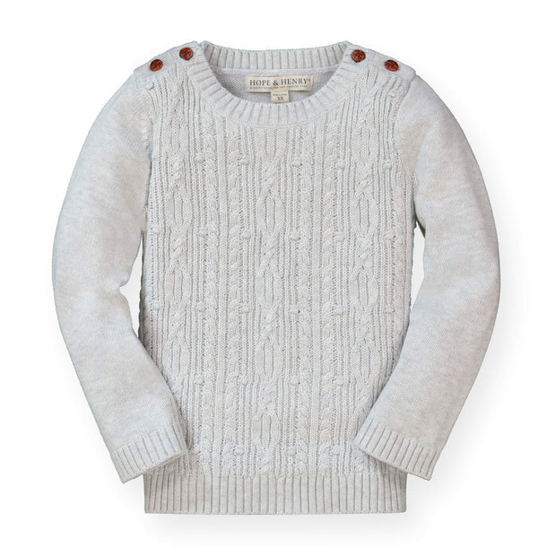 Cable Button Sweater - Hope & Henry Girl