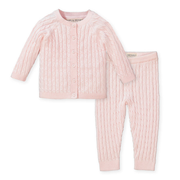 Cable Cardigan and Legging Set - Hope & Henry Baby