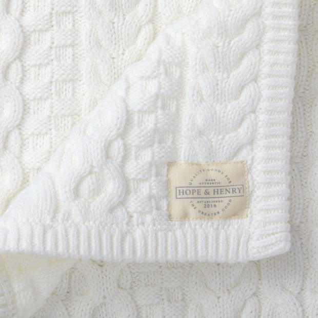 Cable Knit Blanket - Hope & Henry Baby