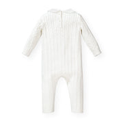 Cable Romper with Peter Pan Collar - Hope & Henry Baby
