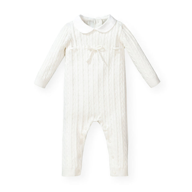 Cable Romper with Peter Pan Collar - Hope & Henry
