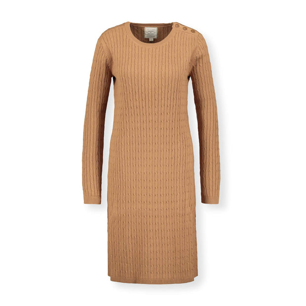 Cable Sweater Dress with Elbow Patches - Hope & Henry