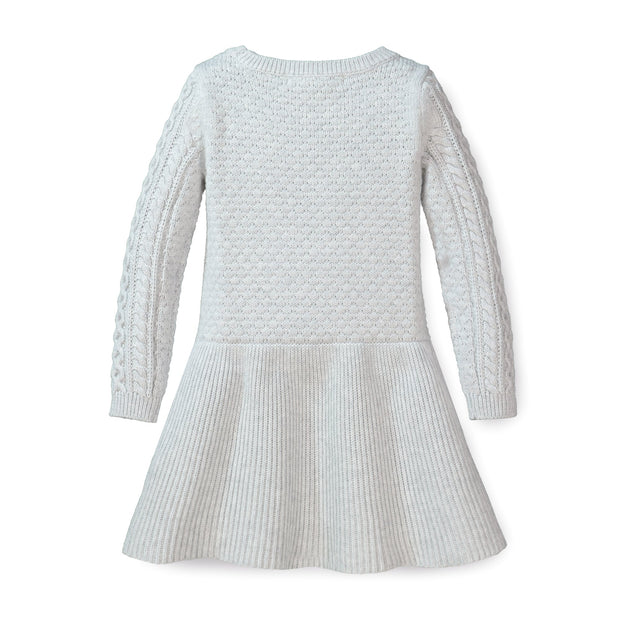 Cable Sweater Dress with Ribbed Skirt - Hope & Henry Girl