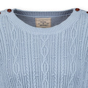 Cable Sweater with Button Detail - Hope & Henry Women