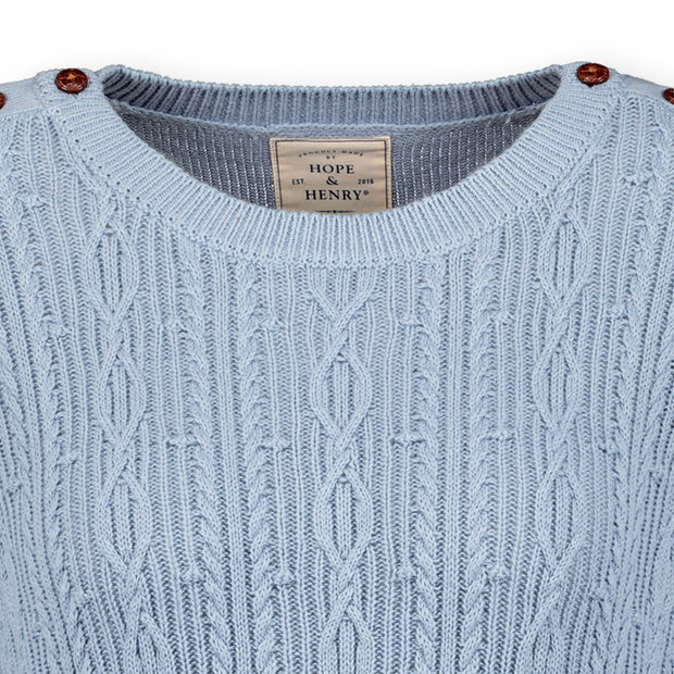 Cable Sweater with Button Detail - Hope & Henry