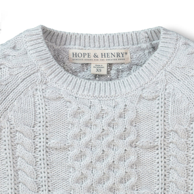 Chunky Cable Knit Pullover Sweater - Hope & Henry Girl
