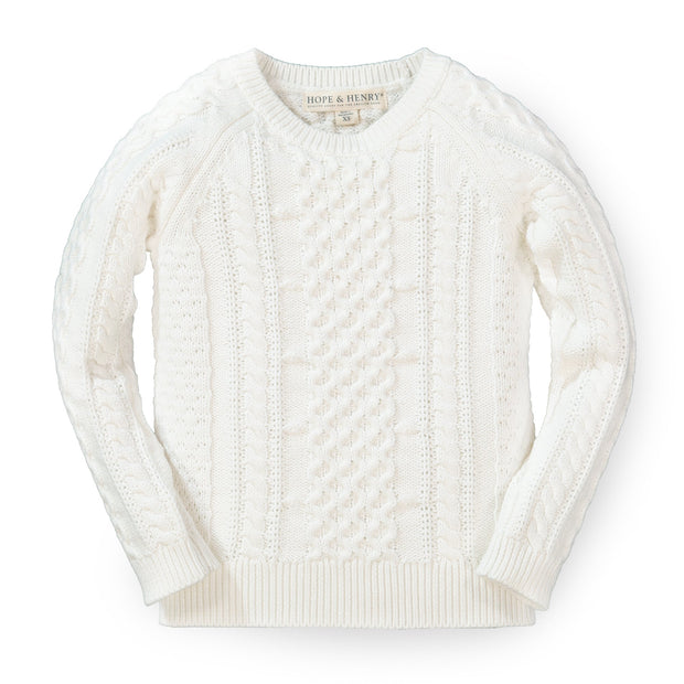 Chunky Cable Knit Pullover Sweater - Hope & Henry