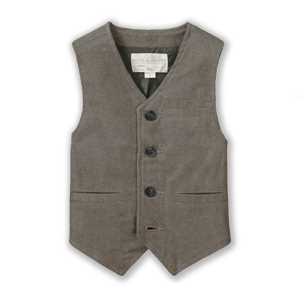 Classic Suit Vest - Hope & Henry Boy