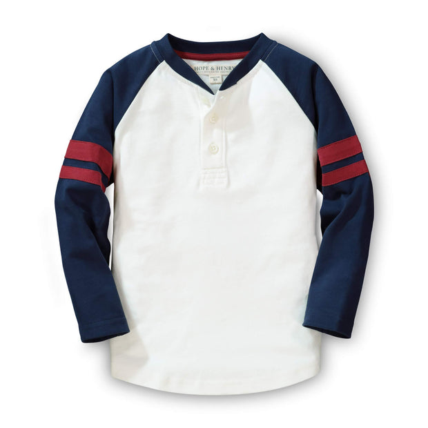Colorblock Raglan Henley - Hope & Henry Boy