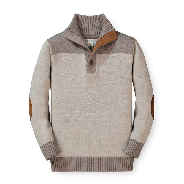 Contrast Sweater with Elbow Patches - Hope & Henry