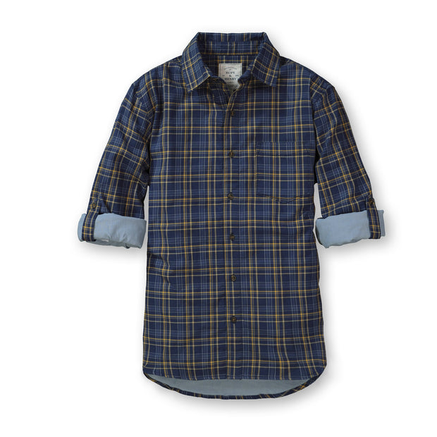 Convertible Double Weave Button Down Shirt - Hope & Henry