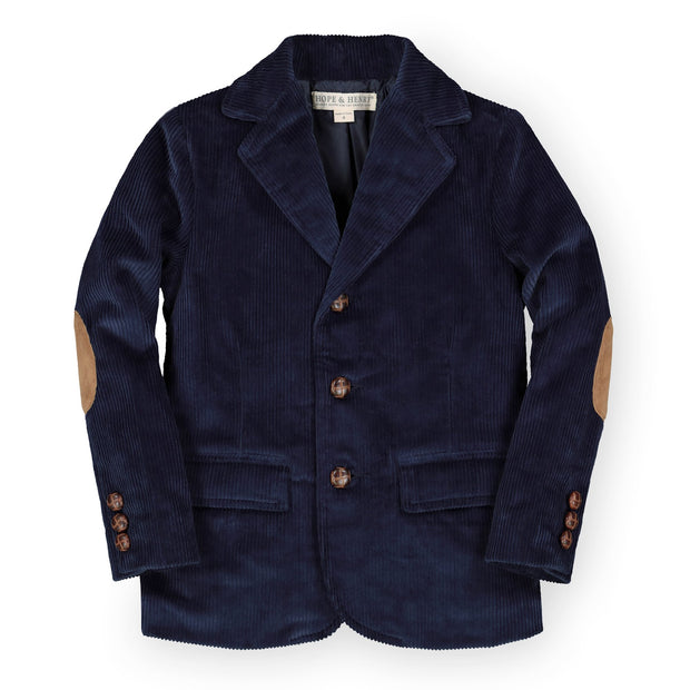 Corduroy Blazer with Elbow Patches-Suiting-Hope & Henry