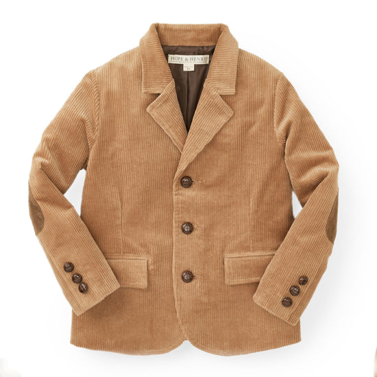 Corduroy Blazer with Elbow Patches - Hope & Henry