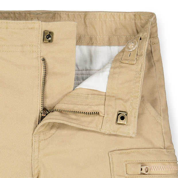 Cotton Twill Cargo Short - Hope & Henry Boy