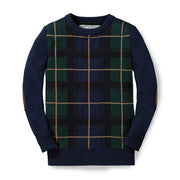 Crewneck Pullover Sweater with Elbow Patches - Hope & Henry Boy