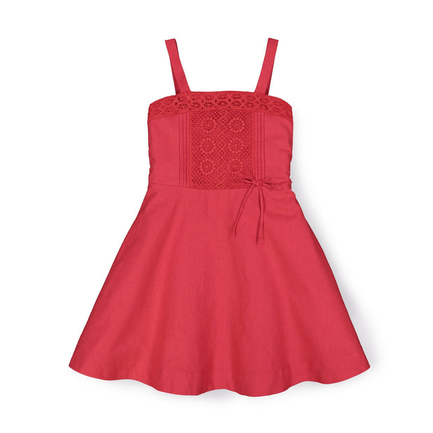 Crochet Trim Summer Dress - Hope & Henry Girl