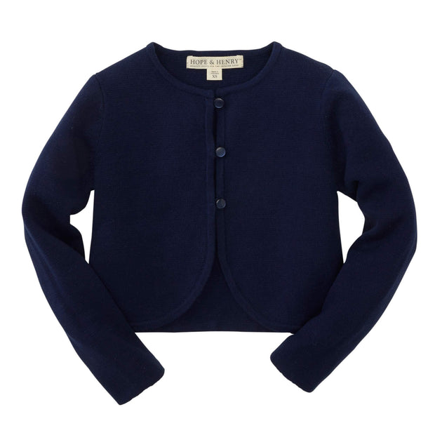 Cropped Curved Hem Cardigan - Hope & Henry Girl