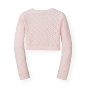 Cropped Pointelle Cardigan - Hope & Henry