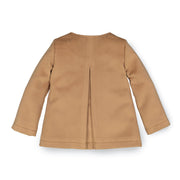 Dressy Double Breasted Collarless Coat - Hope & Henry Girl