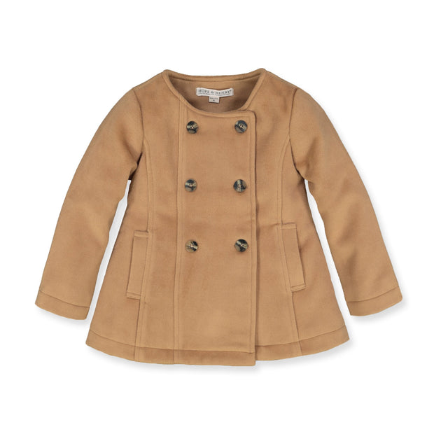 Dressy Double Breasted Collarless Coat-Outerwear-Hope & Henry