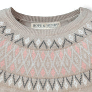 Fair Isle Fit and Flare Sweater Dress - Hope & Henry