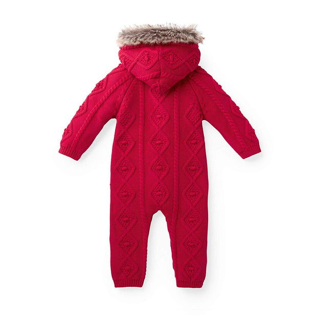 Faux Fur Hooded One Piece - Hope & Henry Baby