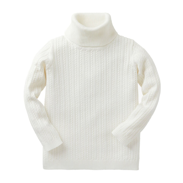 Fine Cable Turtleneck Sweater - Hope & Henry Girl