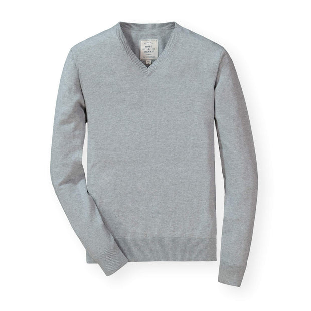 Fine Gauge V-Neck Pullover Sweater - Hope & Henry