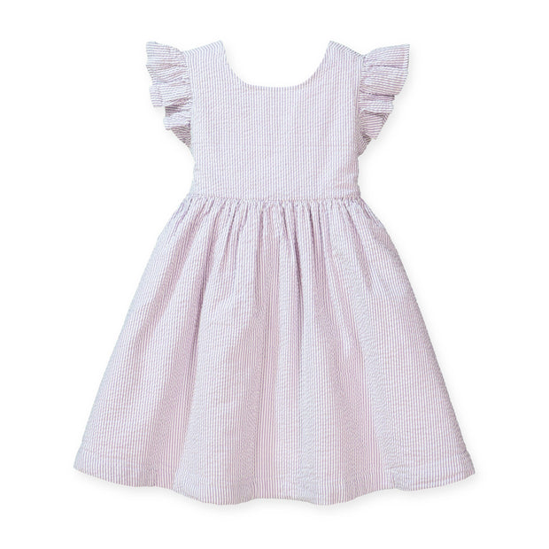 Flutter Sleeve Bow Back Dress - Hope & Henry