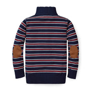 Half Zip Pullover Sweater with Elbow Patches - Hope & Henry Boy