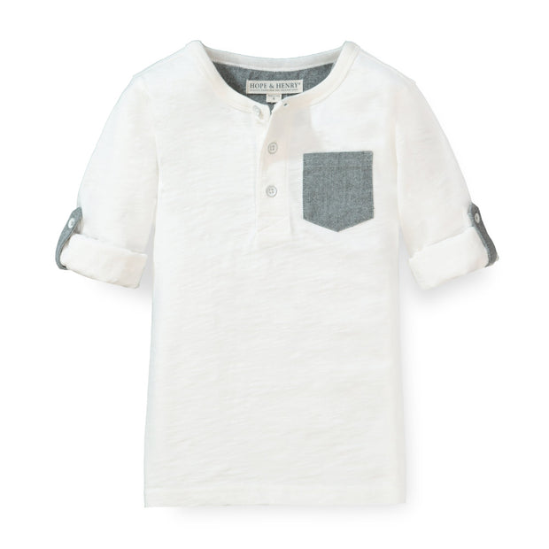 Henley Pocket Tee with Rolled Sleeves - Hope & Henry