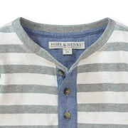 Henley Tee with Rolled Sleeves - Hope & Henry