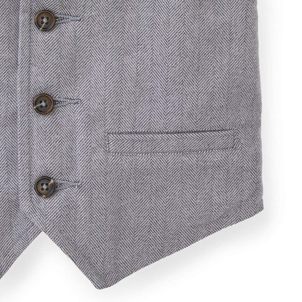 Herringbone Suit Vest - Hope & Henry Boy
