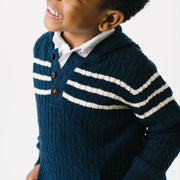 Hooded Cable Pullover with Kanga - Hope & Henry