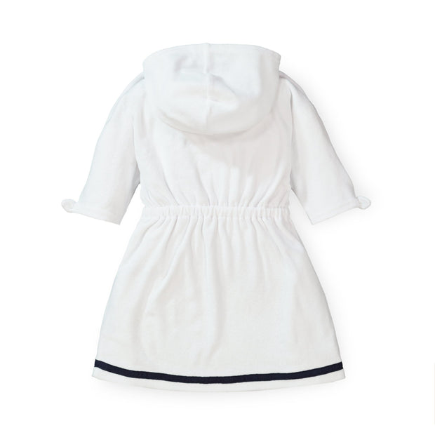 Hooded Terry Swim Cover-Up with Zip - Hope & Henry Girl
